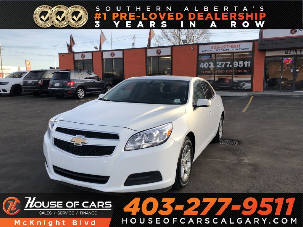 Pre-Owned 2013 Chevrolet Malibu 1LT / Leather / Bluetooth