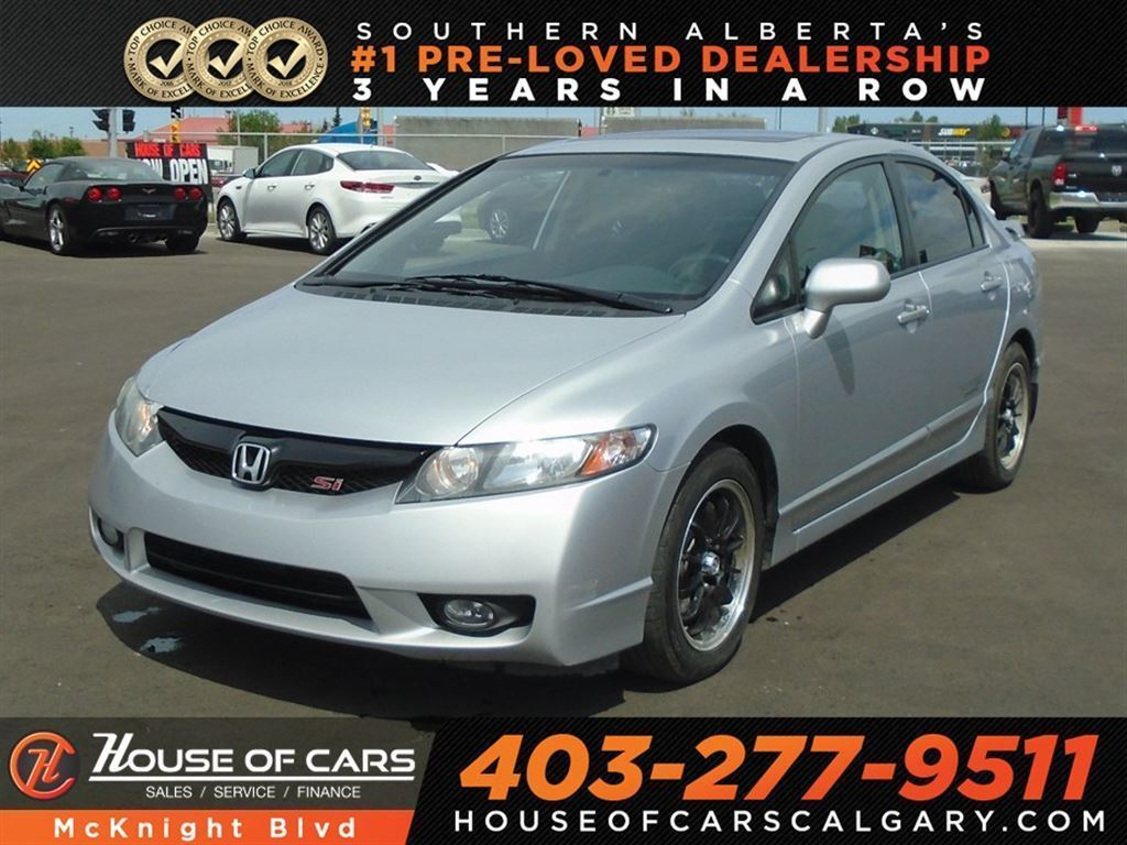 Honda Civic Si Used >> Pre Owned 2010 Honda Civic Si Six Speed Manual I Vtec Sedan In