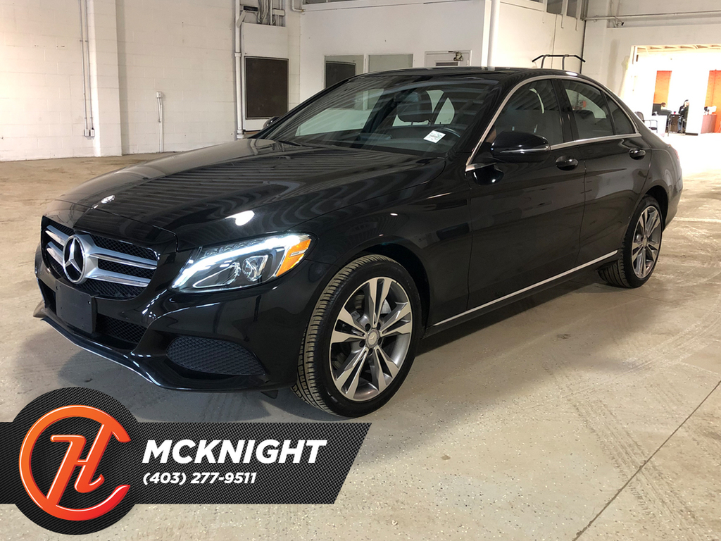 Pre-Owned 2016 Mercedes-Benz C-Class Leather / Sunroof / Back up cam