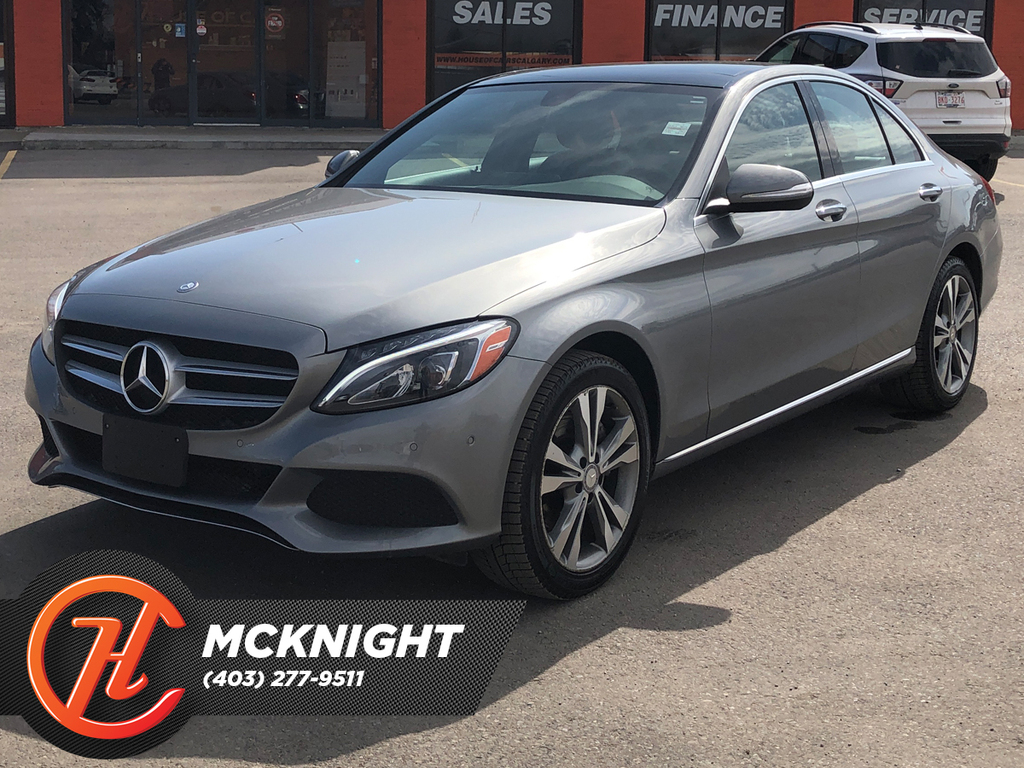 Pre-Owned 2015 Mercedes-Benz C-Class 4dr Sdn C 300 4MATIC / Sunroof / Navi
