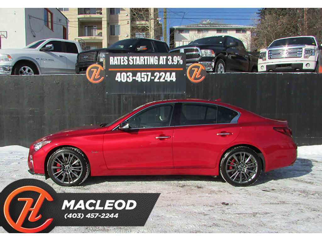 Pre-Owned 2018 INFINITI Q50 RED SPORT 400 AWD LEATHER ROOF NAV