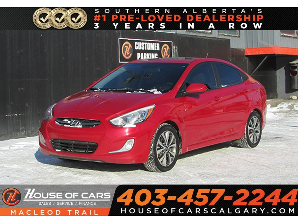 Pre-Owned 2016 Hyundai Accent GLS/ Sunroof/ Heated Seats/ Bluetooth/ FWD