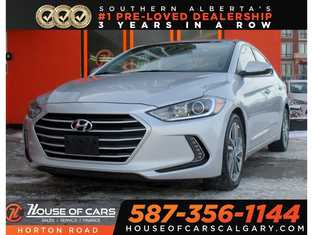 Pre-Owned 2017 Hyundai Elantra GLS/BACKUP CAM/HEATED WHEEL/SUNROOF/BLUETOOTH