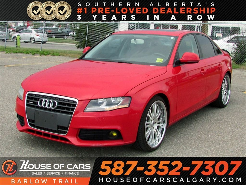 Pre-Owned 2009 Audi A4 2.0T / Heated leather seats / Bluetooth