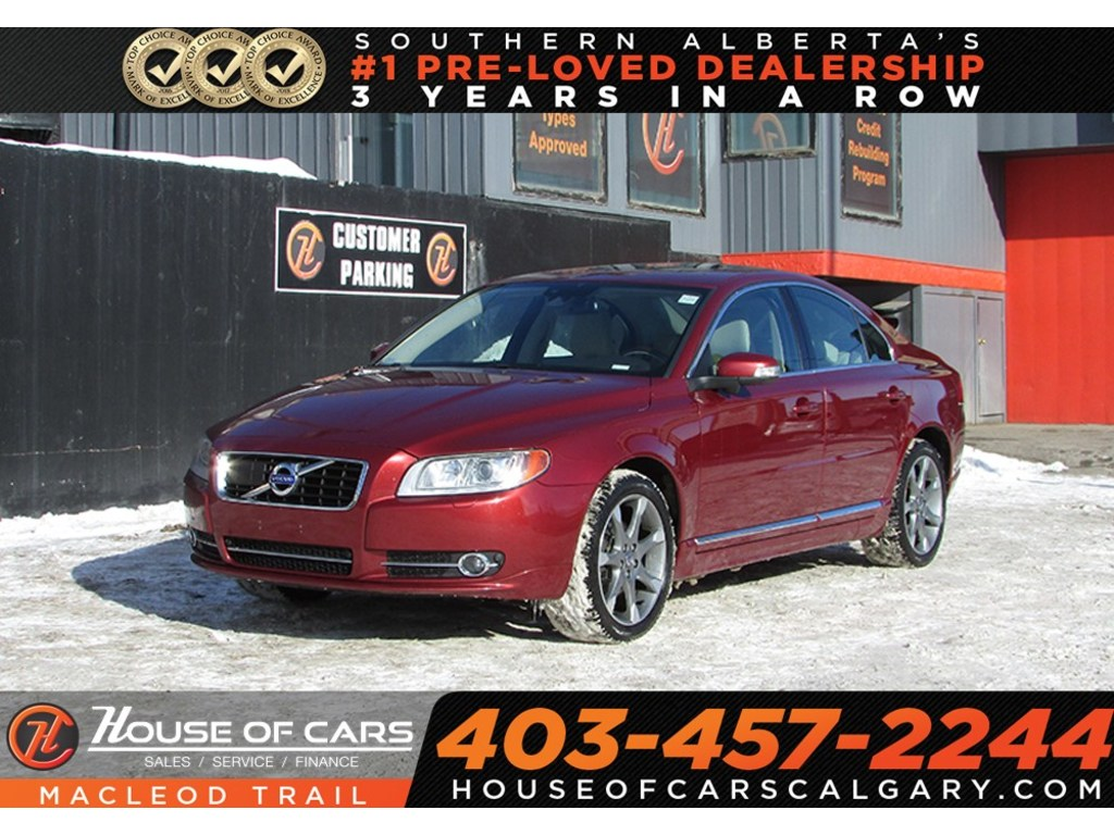 Pre-Owned 2011 Volvo S80 T6 Level 2 Leather / Heated seats/ Sunrood,AWD