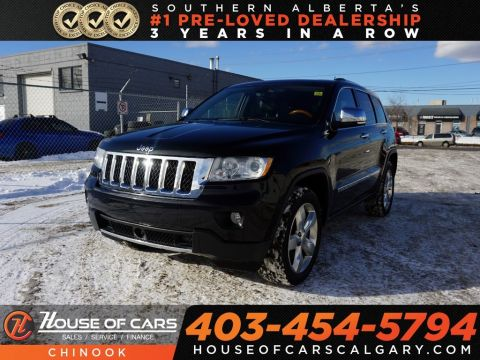 Pre-Owned 2012 Jeep Grand Cherokee Overland w/ Bluetooth,Heated Seats,Backup Camera