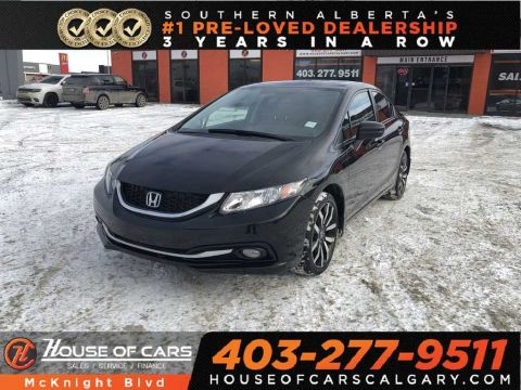 Pre-Owned 2015 Honda Civic Touring / Leather / Sunroof / Navi / Back Up Cam