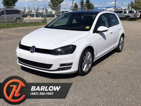 Pre-Owned 2015 Volkswagen Golf TDI Highline / Back Up Camera / Sunroof /