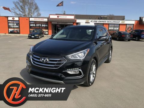 Pre-Owned 2018 Hyundai Santa Fe Sport 2.0T / Leather / Sunroof / Back up cam