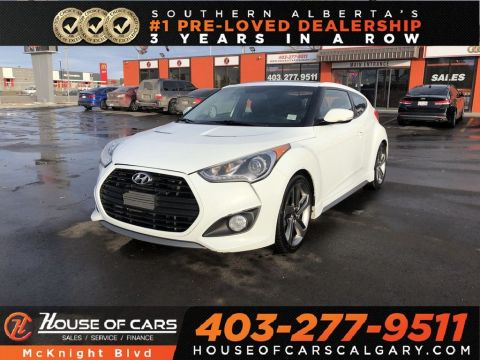 Pre-Owned 2013 Hyundai Veloster Turbo / Leather / Sunroof / Back Up Cam